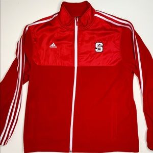 NC State Wolfpack Adidas Full Zip Track Jacket